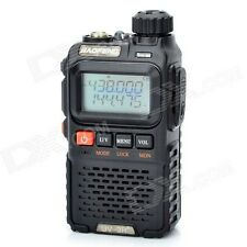 BAOFENG New Black UV-3R+PLUS Dual Band Radio 136-174/400-470MHz+Free Earpeice