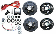 Add Brakes to Your Trailer Complete Kit 3500 axle 5 x 5.5 Bolt Electric Drum
