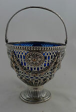 Georgian Sheffield Plated Silver Swing Handled Sugar Basket