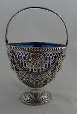 Georgian Sheffield Plated Silver Swing Handled Sugar Basket