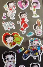 BETTY BOOP Padded PVC Stickers 5 Sheets - 95 Stickers In Total Vintage Cartoon