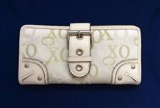NEW xoxo checkbook Wallet, Cloth with vinyl accents, ivory and sage