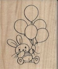 """""""Balloon Bunny"""" Rubber Stamp by Stampendous"""