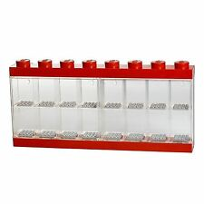 LEGO 16 FIGURES LARGE DISPLAY CASE RED