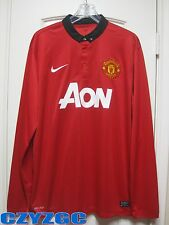 BNWT Manchester United 2013/14 Long-Sleeve Home Shirt XL