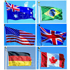 HOT! Indoor Outdoor 3x5 feet Country Banner National Flag Pennants USA Canada