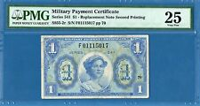 Us Mpc Series 541 1 Dollar Replacement, 1958, Vf-Pmg25, Rare, M40