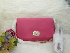 $295 Coach Cross Body Pink Mini Ruby Genuine Leather New With Tag