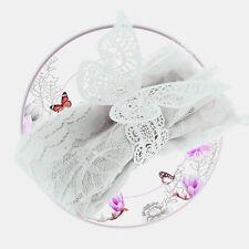 Set Serviettenhalter Papier Schmetterling Hochzeit Tischdeko 12x Serviettenringe