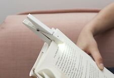 Kikkerland Clothespin White Clothes Peg Clip On Reading Book Light Tablet Gift
