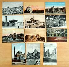 12 Postcards All The Citadel & Mohammed Ali Mosque Cairo Egypt Islam Muslim