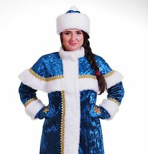 TOP-QUALITY PROFESSIONAL Snow Maiden suit costume S M L XL Snegurochka Christmas