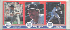 1986 Star Wade Boggs Boston Red Sox UNOPENED Panel Set  Poster on back