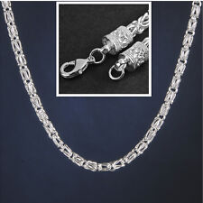 925 Sterling Silver Plated Men 6MM Width 20 Inch Fashion Chain Link Necklace Hot