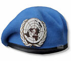 UN - UNITED NATIONS  HIGH QUALITY BERET & OR's BERET BADGE  54 - 62cm