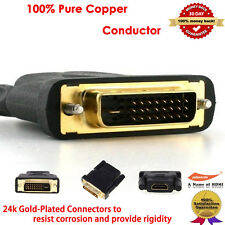 Gold-Plated DVI-D Dual Link to HDMI (Male to Female) Adapter-4K Resolution Ready