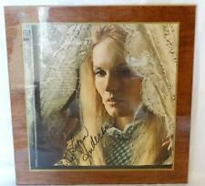 "Lynn Anderson Autographed Laminated ""Cry"" LP Cover on Wood W/COA Lot 84"