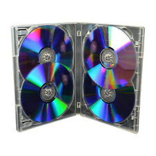 1 x 4 Way Clear DVD 15mm Spine Holds 4 Discs New Replacement Case Amaray UK