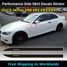 M Performance Side Skirt Stripe Sticker for BMW E90 E91 E92 E93 323i 330i 335i