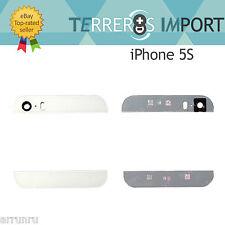Cristal Superior e Inferior Blanco Parte Trasera iPhone 5S Cristal Camara Tapa