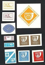 Bulgaria collection of Philatelic Exhibition labels / poster stamps
