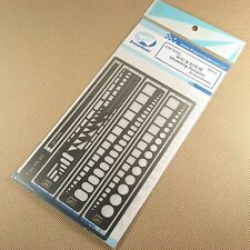 PE Photo etched Tools Scribing Panel Rivet Template Stainless steel DT02