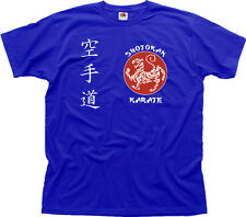 SHOTOKAN KARATE Martial Arts MMA UFC blue cotton t-shirt 01460