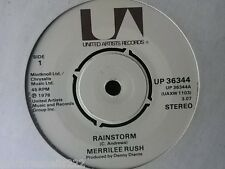 "VINYL 7"" SINGLE - RAINSTORM - MERRILEE RUSH - UP36344"