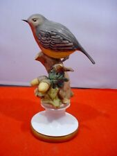 Vintage Capodimonte Porcelain Bird Robin Figurine Italy Signed