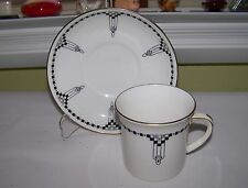 1 EB&C FOLEY Art Deco Cup & Saucer (Can Style) Black & White Made in England