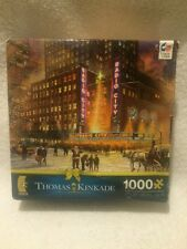 Thomas Kinkade Radio City Music Hall 1000 Piece Ceaco Jigsaw Puzzle Jig Saw