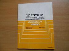 Reparaturanleitung für Kollisionsschäden Toyota Corolla Verso - 03.2004 BRM132M