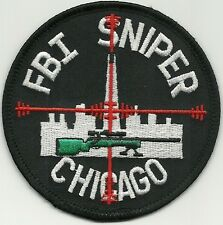 Fbi: chicago Division Sniper-SWAT S.W.A.T. Police Patch SEK policía Patch