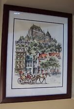 CLAUDE ROY QUEBEC SIGNED ORIGINAL IN FRAME with Glass PEN INK ART