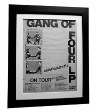 GANG OF FOUR+Entertainment+POSTER+AD+RARE ORIGINAL 1979+FRAMED+FAST GLOBAL SHIP