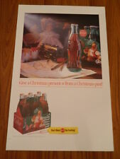 "1992 Coke ""Letters to Santa"" National Promotion 18""x28"" Retail Display Poster"