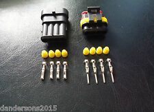 4 Pin Automotive Plug Pair - for Motorbike, Cars - Flame Retardant & Water Proof