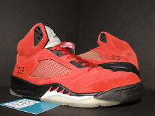 09 Nike Air Jordan V 5 Retro DMP RAGING BULL TORO FIRE RED WHITE BLACK SILVER 10