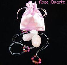Ready 3 Rose Quartz Yoni Eggs 100% Natural Kegel Vaginal Tightening Ben Wa jade