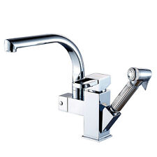 Brand New single handle kitchen faucet pull out vessel sink mixer tap chrome