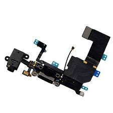 iPhone 5C Data SYNC Charging Block Port Dock Assembly Flex Cable Mic Black UK