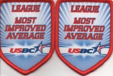 USBC (2) YOUTH LEAGUE MOST IMPROVED AVERAGE BOWLING PATCHES: FREE SHIPPING!!!