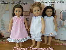 SEWING PATTERN for American Girl Doll by Farmcookies / HISTORICAL UNMENTIONABLES