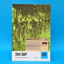 Stern-Sport Volltr.-Taschensuper 1970 | Prospekt Werbung DEWAG DDR Radio R79 Y