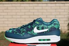 NIKE AIR MAX 1 GPX SZ 13 SPACE BLUE WHITE BLACK JADE TROPICAL 684174 400