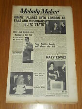 MELODY MAKER 1953 #1016 MAR 7 JAZZ SWING JACK PARNELL TITO BURNS ANNE SHELTON