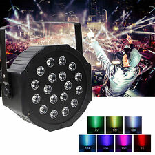 18W RGB 18x LED Par Stage Light DMX DJ Disco Party Effect Wash Stage Lighting