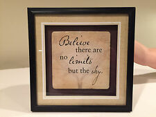 """""""Believe no limits buy the sky"""" inspirational 3d framed home decor picture 10"""""""