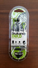 Green/Black Skullcandy Ink'd 2.0 Supreme Sound+Mic Earphones Headphones Bass