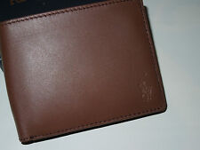 Polo RALPH LAUREN mens Wallet   brown LEATHER  with Small pony